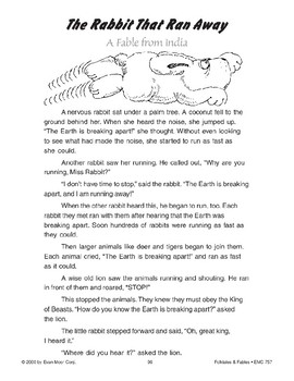 The Rabbit That Ran Away (A Fable from India)