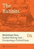 The Rabbits - Guided Writing Task Worksheet & Essay Writin