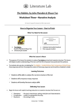The Rabbits - Narrative Analysis Worksheet