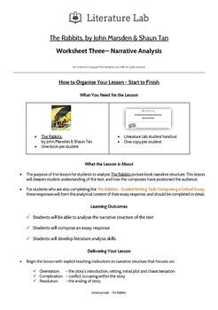 The Rabbits - Narrative Analysis Worksheet