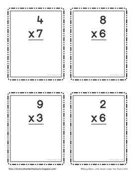 Multiplication Math Relay