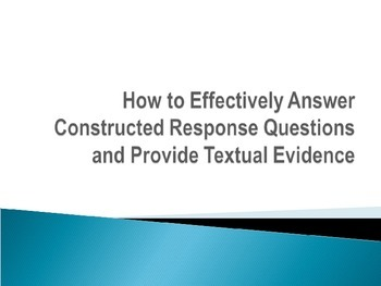 The Race Method for Answering Constructed Response Questions