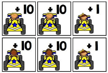 The Race to 100 (add to 100 by 1s and 10s)(FREEBIE)