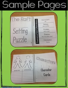 The Raft and Weslandia Comprehension Club for Interactive Reading Notebooks
