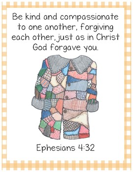 The Rag Coat Bible Verse Printable (Ephesians 4:32)