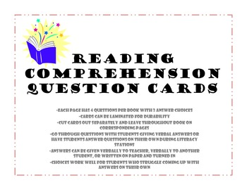 The Rain Came Down: Comprehension Questions