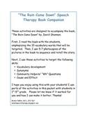 """""""The Rain Came Down"""" Speech Therapy Book Companion"""