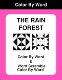 The Rain Forest - Color By Word & Color By Word Scramble Worksheets