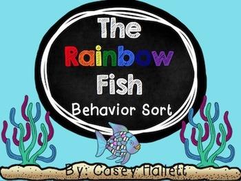 The Rainbow Fish {Behavior Sort and Writing Activity}