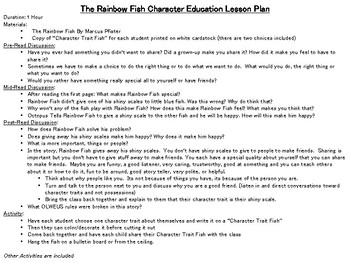 The Rainbow Fish | Character Education