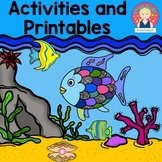 The Rainbow Fish Activities {English and Spanish}