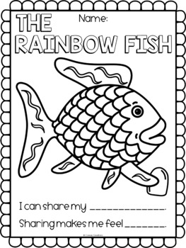 free coloring pages sharing | The Rainbow Fish by Coreas Creations | Teachers Pay Teachers