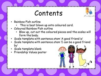 The Rainbow Fish Friendship Lesson
