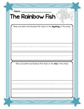 The Rainbow Fish Story Response Sheet