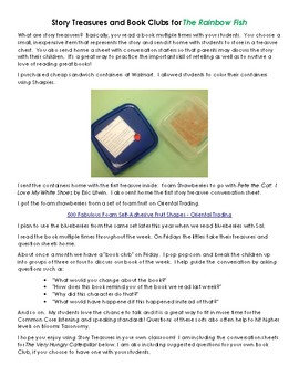 image about Printable Book Club Questions referred to as The Rainbow Fish Tale Treasure and Reserve Club Thoughts via