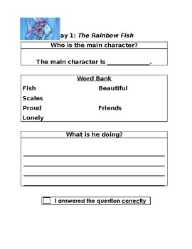 The Rainbow Fish: Two Day Close Reading Plan