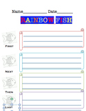 The Rainbow Fish sequencing worksheet