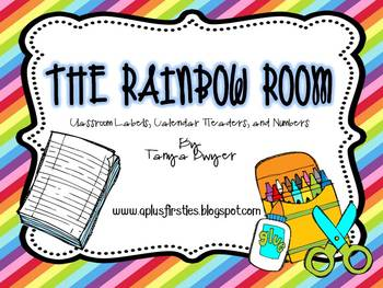 The Rainbow Room Classroom Labels