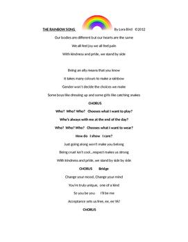 The Rainbow Song - Lyrics