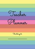 The Rainbow Teacher Planner