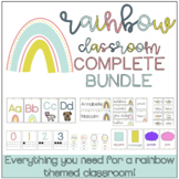 The Rainbow Themed Classroom: The COMPLETE Bundle