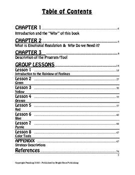 The Rainbow of Feelings - Emotional Regulation Curriculum for grades PK - 2