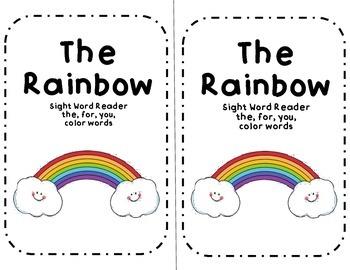 The Rainbow-sight word reader