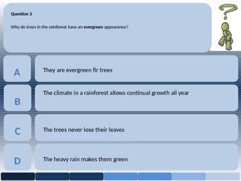 The Rainforest 10 Question Quiz Starter