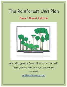 """The Rainforest"" Common Core Aligned Math and Literacy Unit - SMARTBOARD EDITION"