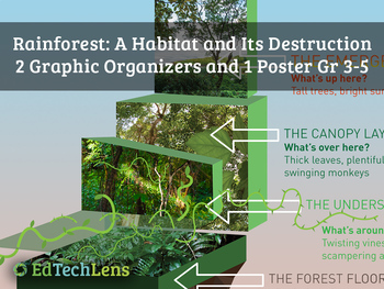 Rainforest Habitats and Their Destruction: Graphic Organizers for Gr 3-5
