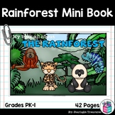 The Rainforest Mini Book for Early Readers: Rainforest Animals
