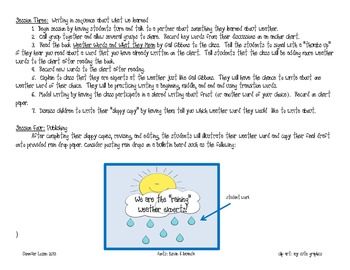 "The ""Raining"" Weather Experts: An integrated Science and Writing Activity"