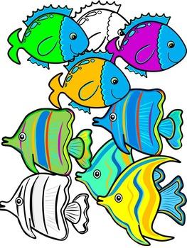 The Rainbow Fish- Fish Clipart Graphics