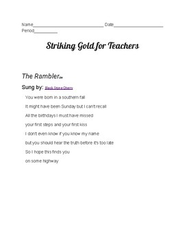The Rambler: Analyzing a Song