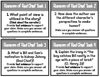 The Ransom of Red Chief - O. Henry - Task Cards
