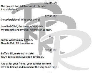 The Ransom of Red Chief Rhyming Readers' Theatre