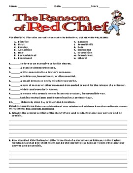 The Ransom of Red Chief by O. Henry Assignment