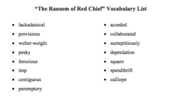 The Ransom of Red Chief by O. Henry Short Story Lesson and Activity Pack
