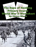 The Rape of Nanking Primary Source World War II Worksheet