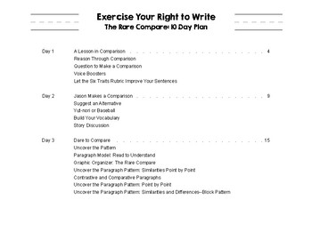 The Rare Compare: Expository Writing
