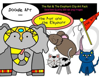 The Rat & The Elephant Clipart Pack