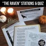 The Raven: 2-Day Reading Stations Activity & Quiz