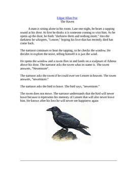 """The Raven"" by Alan Edgar Poe"