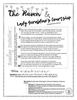 The Raven Comparison Poem & Short Answer Practice