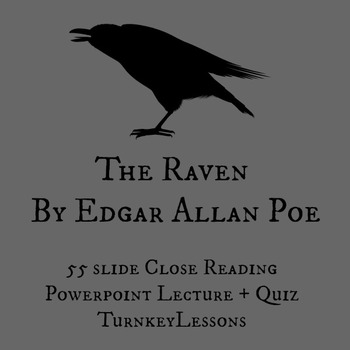 The Raven (Edgar Allan Poe)... by Turnkey Lessons | Teachers Pay ...