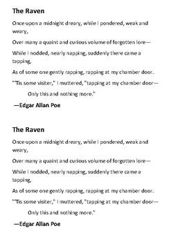 The Raven Handout