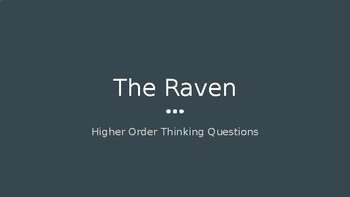 The Raven: Higher Order Thinking Questions