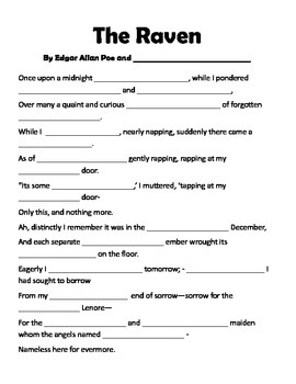 The Raven Mad Libs