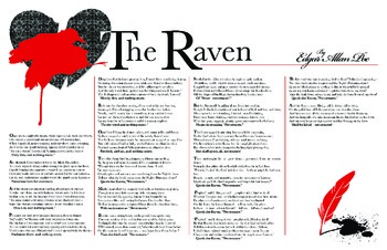 """The Raven"" Poem Poster ~ Edgar Allan Poe"