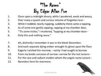 The Raven by Edgar Allan Poe PowerPoint
